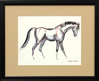 horse (study)(+ another; pair) by lloyd moylan