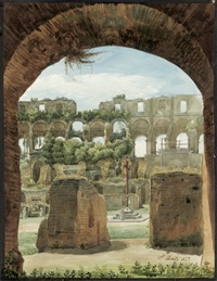 blick in das innere des colosseums in rom by aurelio amici