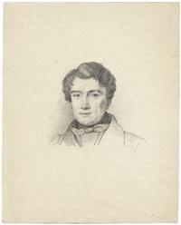 porträt eines herren mit halsbinde. grauer by detlev konrad blunck