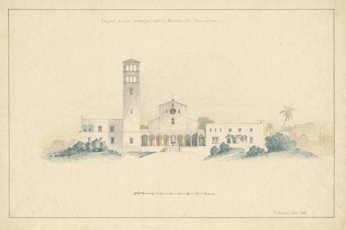 evangelische kirche in jerusalem im stil der italienischen frührenaissance design for a church in jerusalem by carl hesse