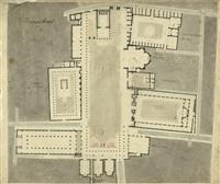 das forum von pompeji: grundriss (+ 3 others; 4 works) by jakob friedrich peipers