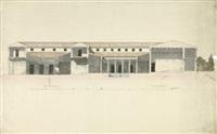 pompeji: ansichten, grundrisse und aufrisse der antiken gebäude (set of 5) by jakob friedrich peipers