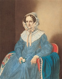 bildnis der johanna recoius (1774 - 1851) by gustav adolph hennig