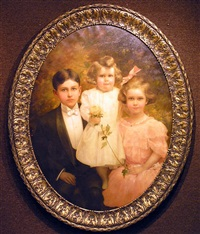 portrait of three children by charles frederick naegele