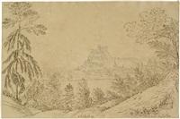 blick auf salzburg mit der festung hohensalzburg und dem dom by henrietta anne fortescue