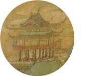 figures in a pavilion by anonymous-chinese (qing dynasty)