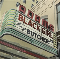 carl's; adams black girl and the butcher (2 works) by robert cottingham