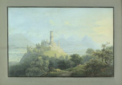 vue de godesberg vers königswinter s les sept montaignes by johann ludwig louis bleuler