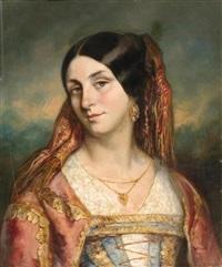 portrait einer jungen italienerin oder spanierin by paul leon aclocque