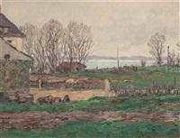 bords du lac de neuchâtel by charles baillon-vincennes