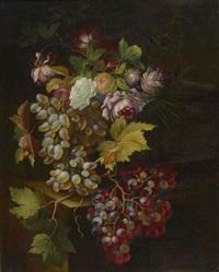 stilleben mit trauben und rosen by johannes hubertus reygers