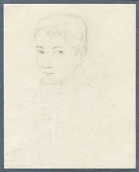 bildnis eines jungen mannes im dreiviertelprofil nach links (+ bildnis einer jungen italienierin mit kappe, verso) by peter rittig