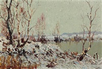 winterlandschaft by charles baillon-vincennes