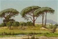 ansicht von st. raphael mit pinienbäumen by william baptiste baird