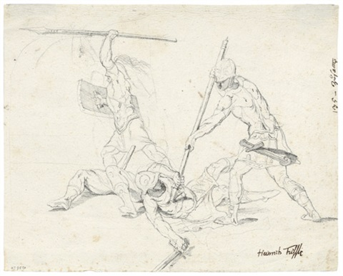 gefechtsszene mit römischen soldaten by henry fuseli