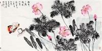 荷花鸳鸯 by bai guang