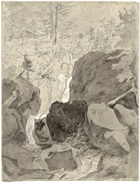 wasserfall bei ohlstadt in oberbayern by johann jakob dorner the younger