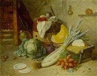 küchenstilleben mit gemüse by jean alexandre rémy couder