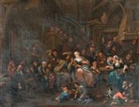 szene in einer taverne by bernardus van schendel