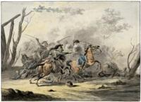 reitergefecht aus der zeit der napoleonischen kriege by jan anthonie langendyk