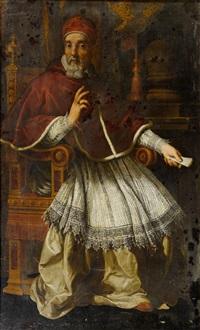 porträt des papstes urban viii. by pietro da cortona