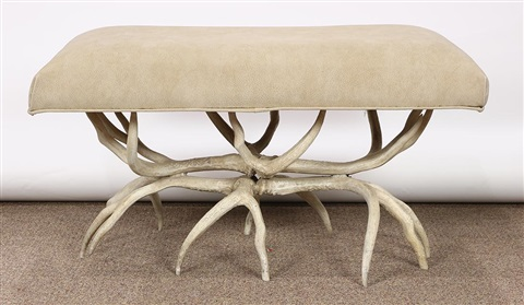 Brilliant Arthur Court Designs Bench Taupe Upholstered Seat Above Gmtry Best Dining Table And Chair Ideas Images Gmtryco