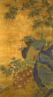 peacocks and bamboo by bian luan