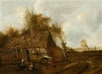 landscape with farmhouse by cornelis gerritsz decker