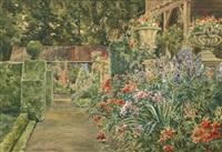 sommerlicher blumengarten in henndorf am wallersee by george drah