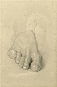 studie eines fußes by bonaventura genelli
