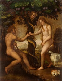 adam and eve in the garden of eden by anonymous-german (16)