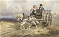 fuhrwagen mit bauernpaar by théodore fort