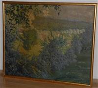 frühlingslandschaft am zimmerberg by carl friedrich felber