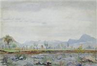 landschaft bei magliaso by robert amrein