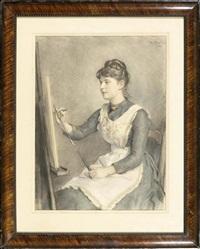 zeichnende dame by wilhelm heinrich fussli
