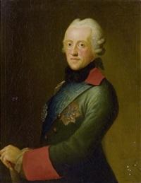 portrait von karl herzog von sachsen und herzog von kurland by anton graff