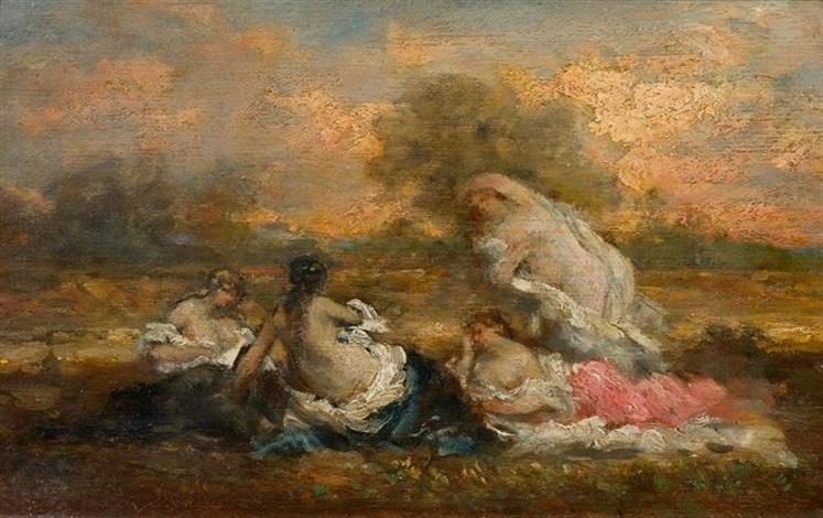 badende mädchen by marie abraham rosalbin de buncey