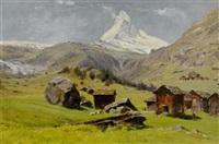 blick auf das matterhorn (after johann joseph geisser (1824 - 1894)?) by silvio poma