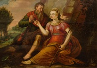 tamar and juda (genesis, 38) by frans floris the elder