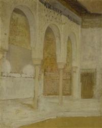 die säulenhalle der alhambra by henri regnault