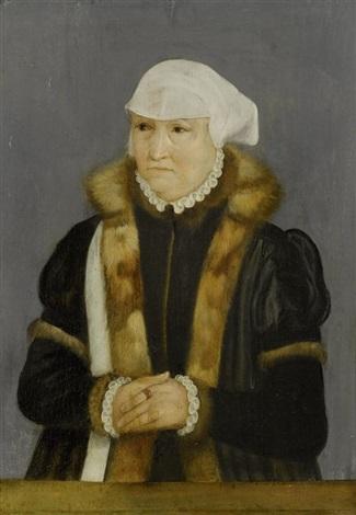 porträt einer dame mit pelzkragen by hans holbein the younger
