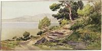 pinienhain bei mortola an der italienischen riviera by ernest-louis lessieux