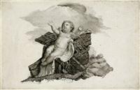 vorzeichnung das jesuskind in der krippe (after simone cantarini) by mauro gandolfi