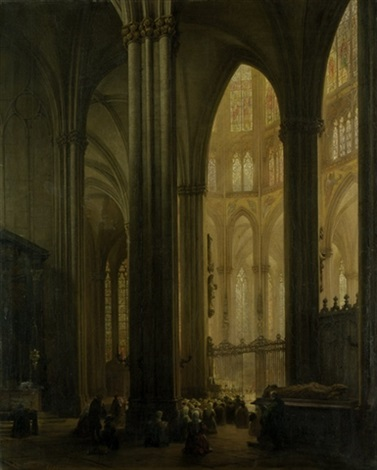 innenansicht des kölner doms by andreas christian ludwig tacke