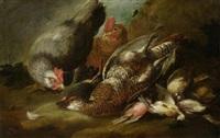 stillleben mit hühnern und toten vögeln by jan fyt