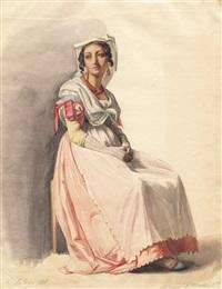 junge frau aus albano by karl friedrich johann von müller