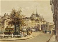 genève, quai des bergues; bourg-de-four (pair) by sergio cecchi