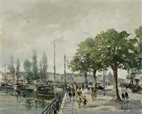quai wilson; pont du mont-blanc (pair) by sergio cecchi