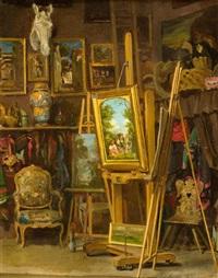 im atelier des künstlers by louise-emilie leleux-girard
