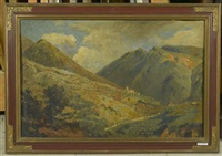 gang zum kloster cholastica. alpenlandschaft by johann jacob